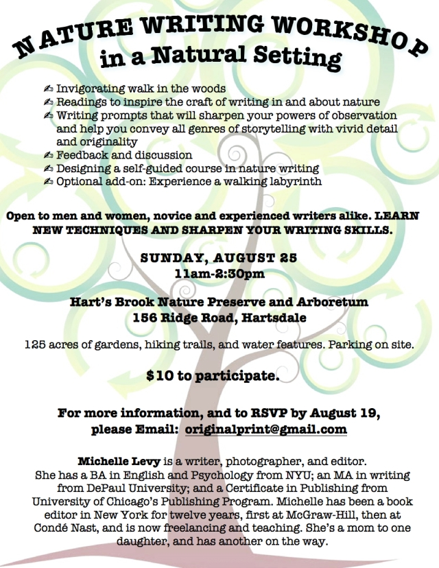NATURE WRITING WORKSHOP AUGUST 25TH